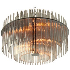 Classic Glass Rod Chandelier from Lightolier, 1980s, USA