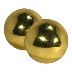 Classic Gold Dome Clip On Earrings