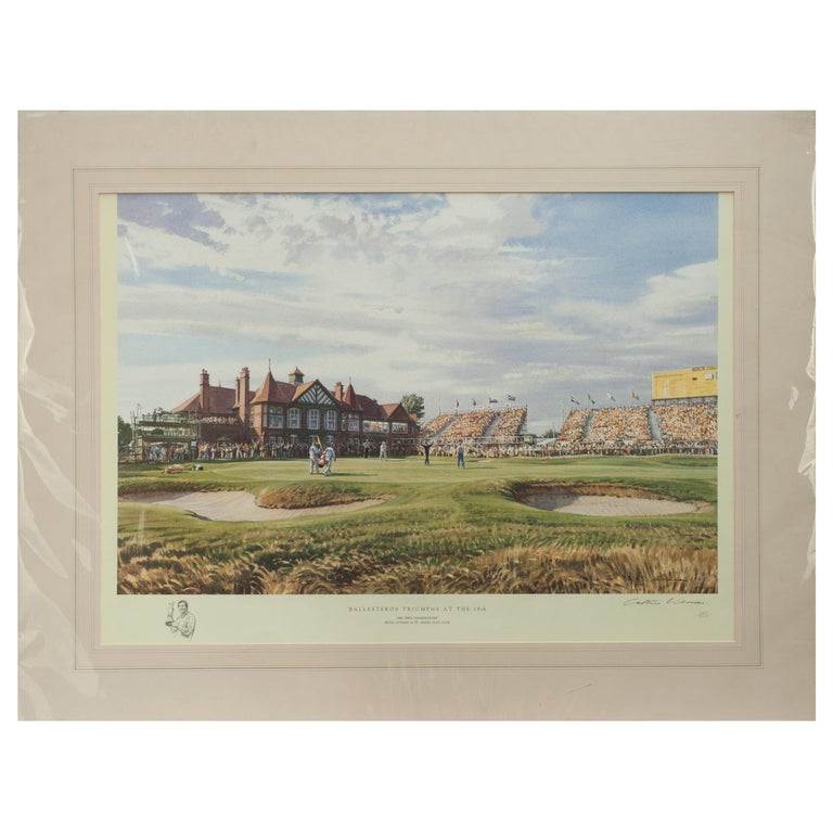 Classic Golf Art 1988 Open Golf Championship at Royal Lytham and St Annes For Sale