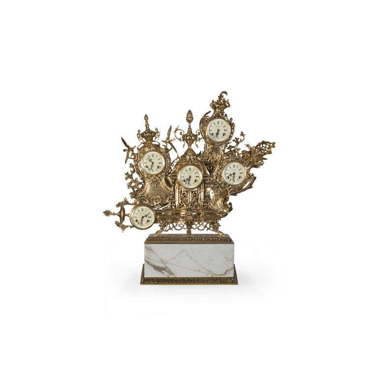 Inspiration:   The grandfather table clock was born from the grandfather floor clock. This is a piece marked by great sentimental value because it is inspired by the grandfather´s tender figure and his old clocks that accompanied our childhood. This
