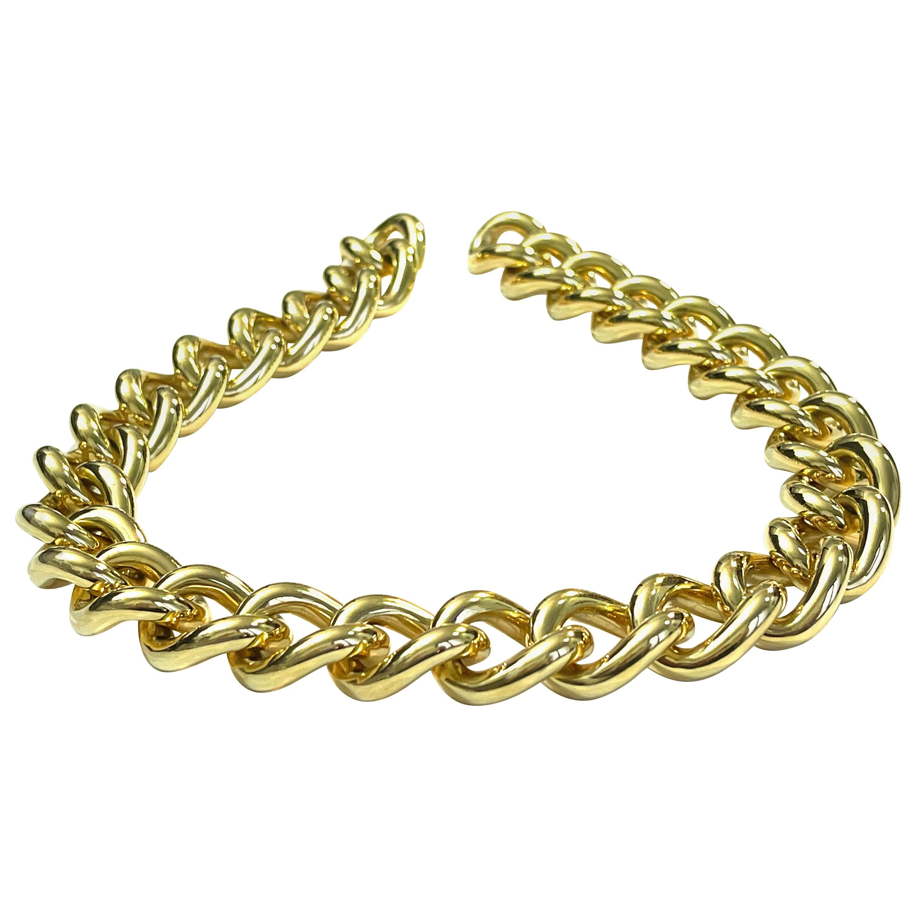 Classic Groumette Necklace 18 Kt Yellow Gold
