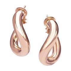 Classic Groumette Pair of Earring 18 Karat Rose Gold