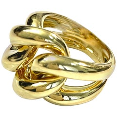 Classic Groumette Ring 18 Kt Yellow Gold