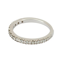 Classic Half Eternity Ring 14k White Gold