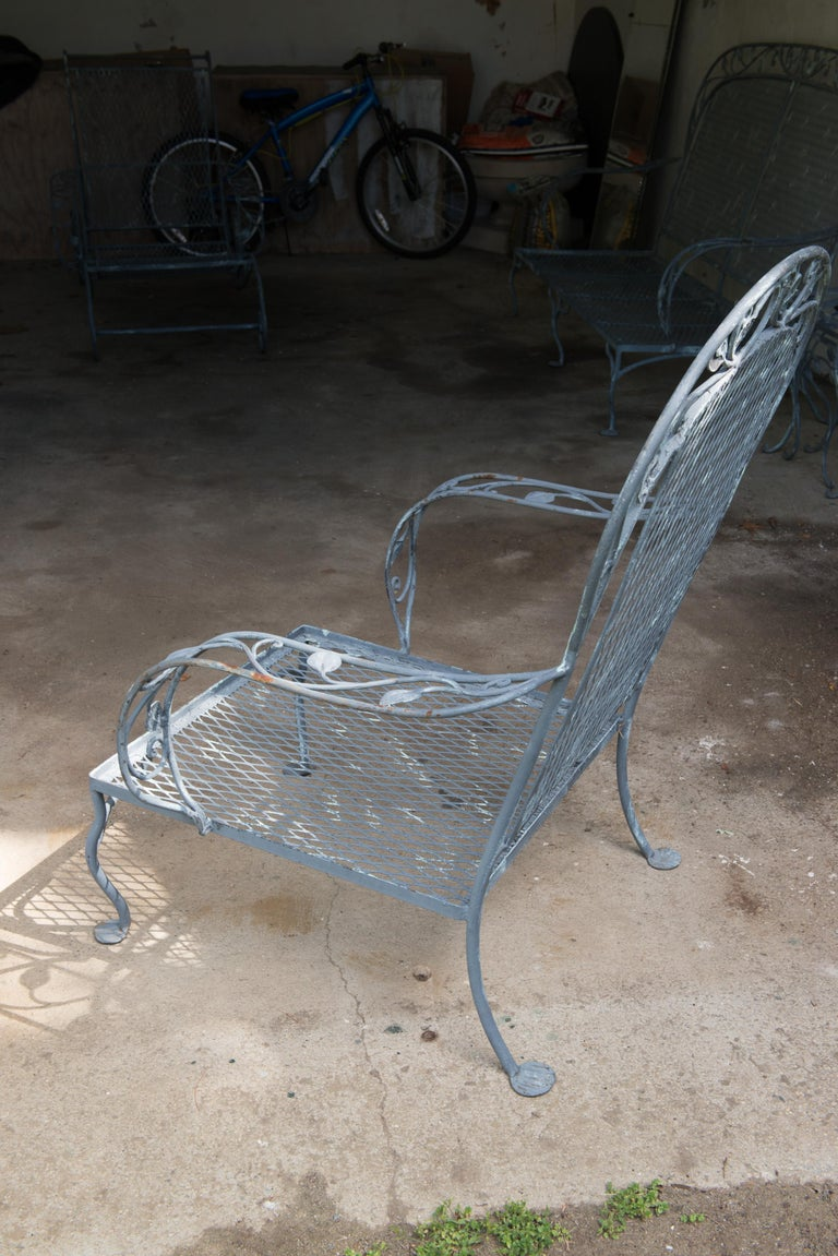Classic High Quality Salterini Wrought Iron Garden Chair 5