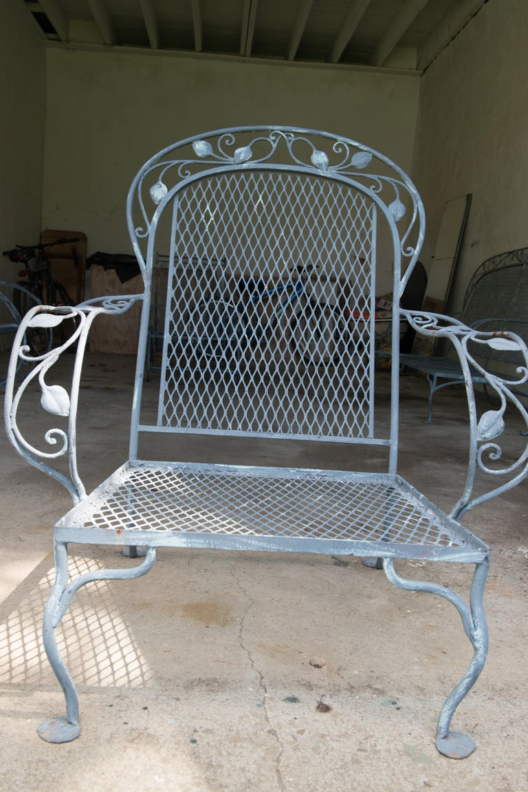 Mid-20th Century Classic High Quality Salterini Wrought Iron Garden Chair
