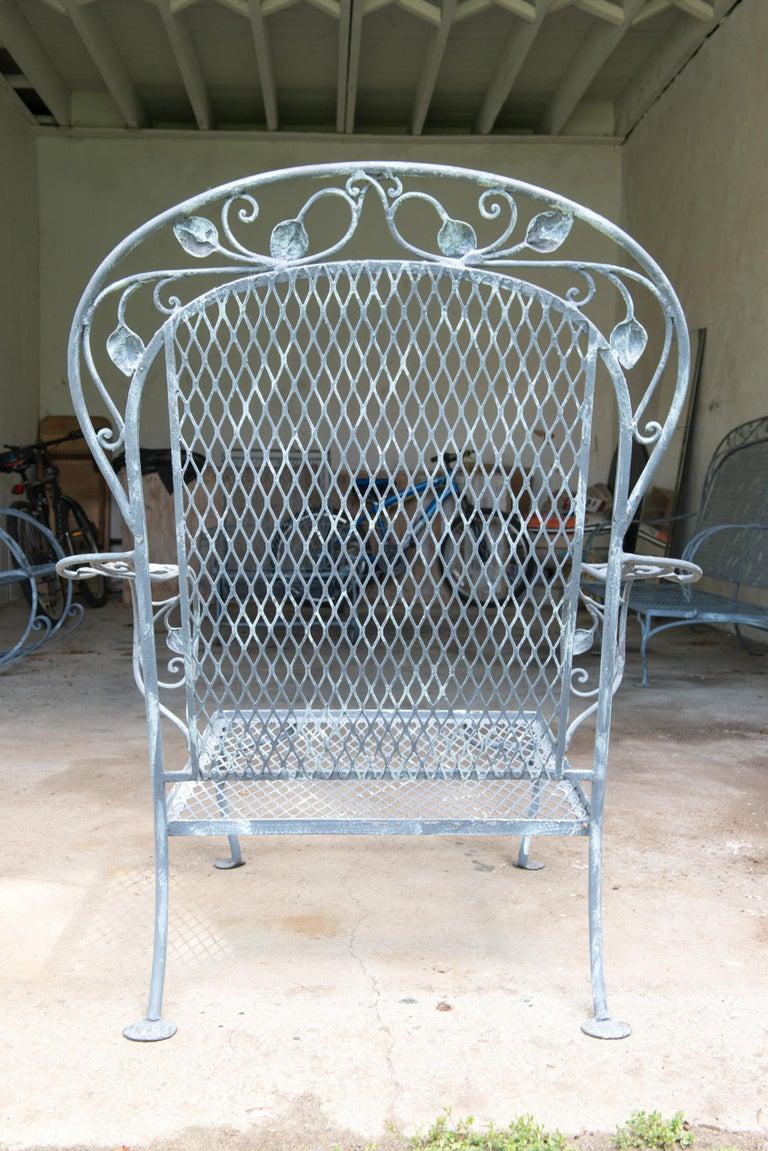 Classic High Quality Salterini Wrought Iron Garden Chair 2