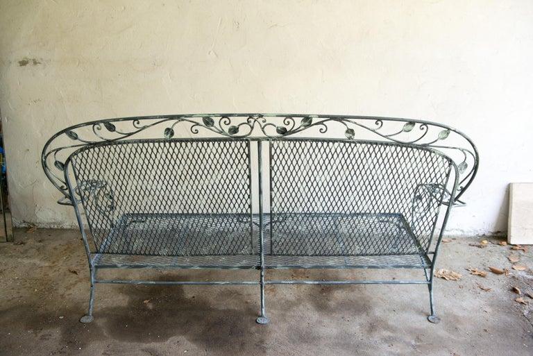 Classic High Quality Wrought Iron Salterini Sofa 6