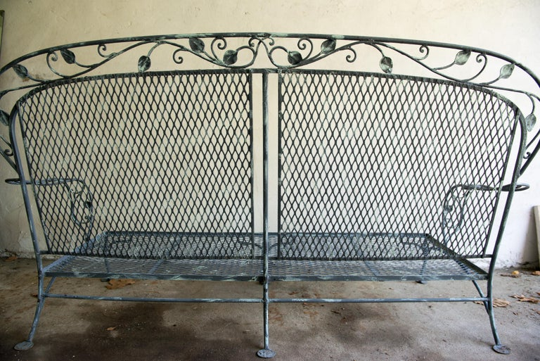 Classic High Quality Wrought Iron Salterini Sofa 8