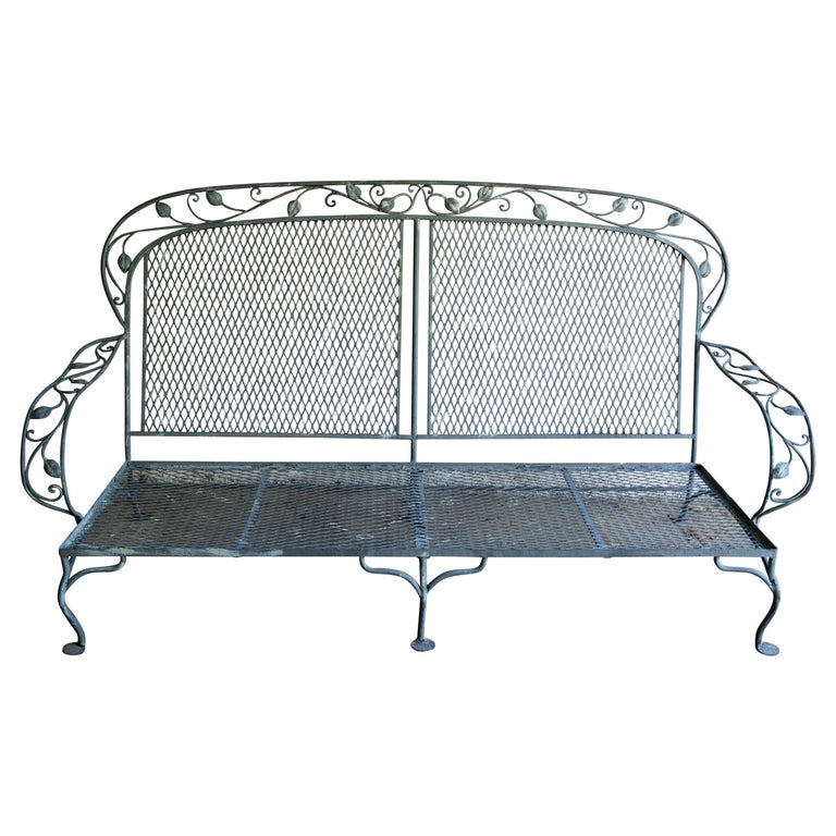 Classic High Quality Wrought Iron Salterini Sofa
