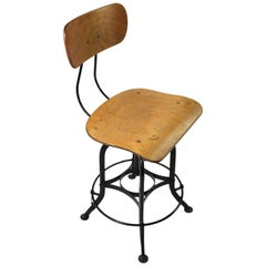 Classic Industrial Task Stool by The Toledo Metal Furniture Company