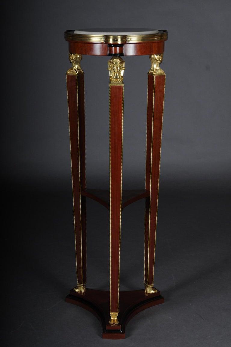 Veneer Classic Karaditan Pillar or Pedestal in Empire Style For Sale