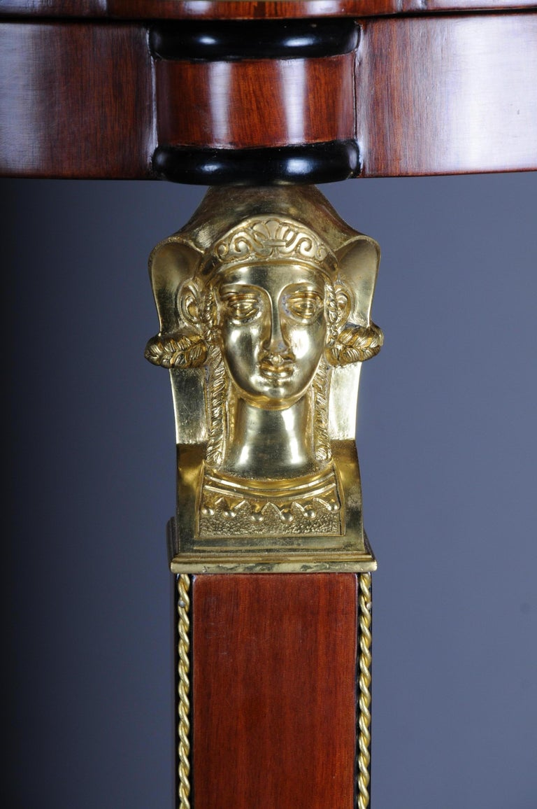Rosewood Classic Karaditan Pillar or Pedestal in Empire Style For Sale