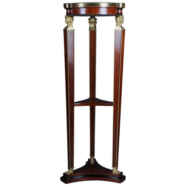 Classic Karaditan Pillar or Pedestal in Empire Style For Sale