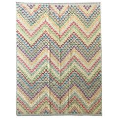 Classic Kilim, Multi-Color Geometric Design