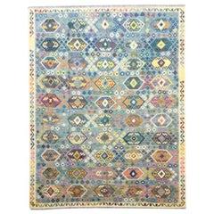 Classic Kilim, Multi-Color Geometric Wool Design