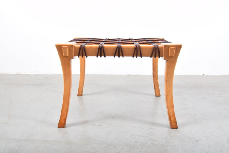 20th Century Classic Klismos Stool by Stavros Neonakis of Athens, Greece For Sale