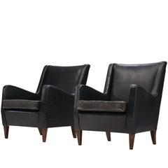 Classic Leather Danish Armchairs, circa 1940