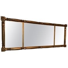 Classic Long Horizontal Giltwood Antique Mirror