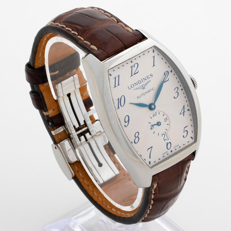 Classic Longines Evidenza Ref L2.642.4, Box and Papers, Excellent Condition In Excellent Condition For Sale In Canterbury, GB