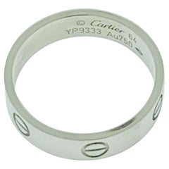 """Classic """"Love Ring"""" Made, Signed and Numbered by Cartier 18 Karat White Gold"""