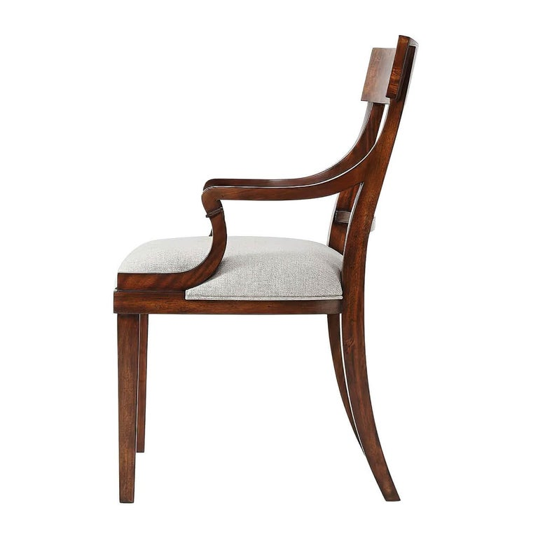 Neoclassical Classic Mahogany Armchair For Sale