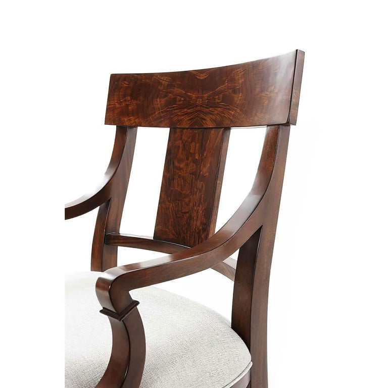 European Classic Mahogany Armchair For Sale