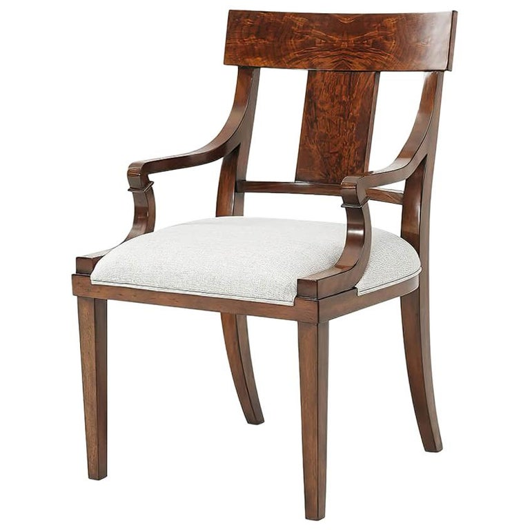 Classic Mahogany Armchair For Sale