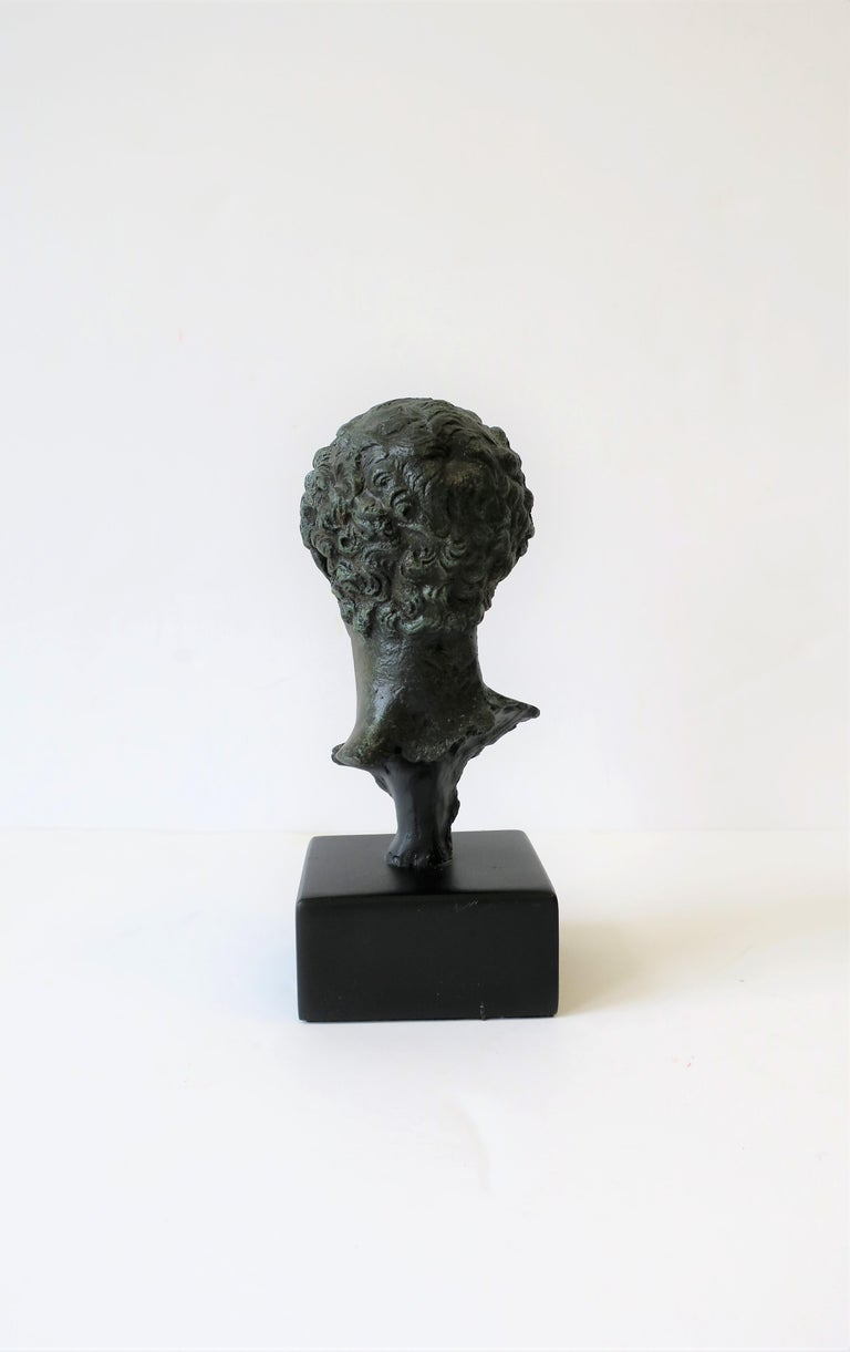 Classic Male Bust Sculpture on Black Base For Sale 2