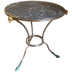 Classic Marble Top Occasional/Side Table, Maison Jansen