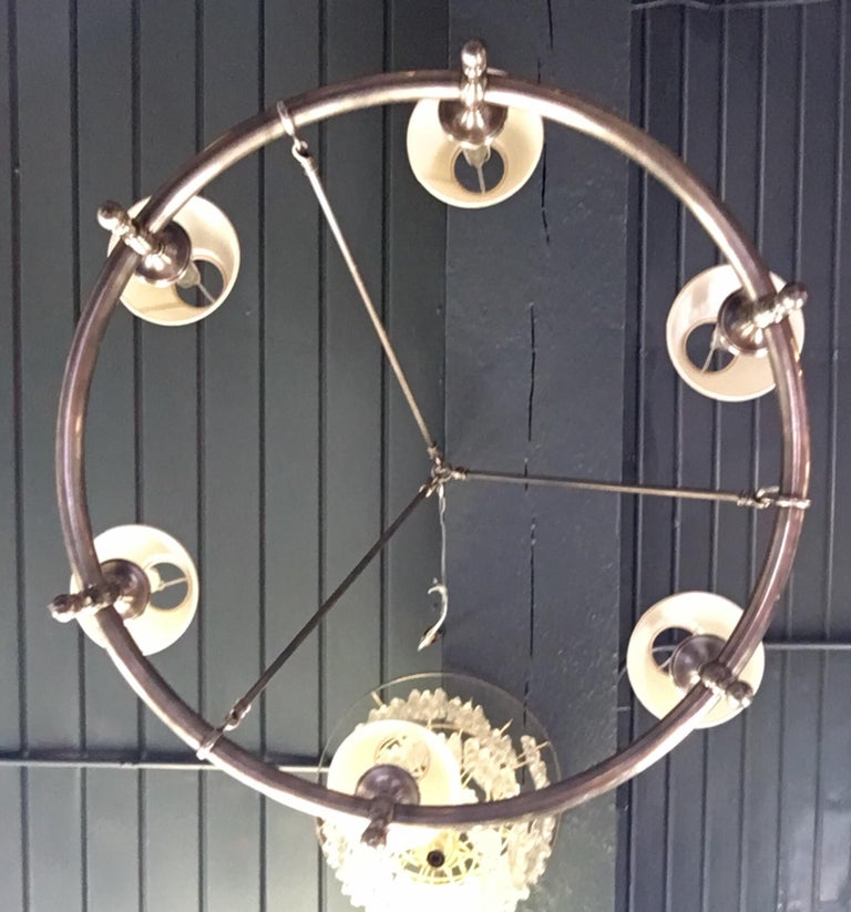 Contemporary Classic Metal Ring Chandelier by Chapman For Sale