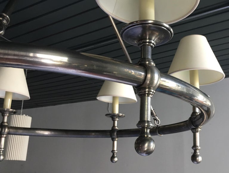 Classic Metal Ring Chandelier by Chapman For Sale 1