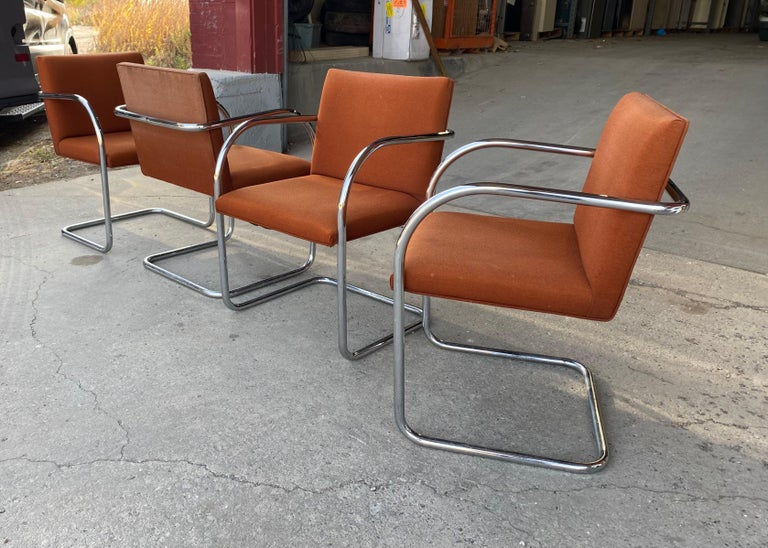 Classic Midcentury Brno Chairs by Mies van der Rohe for Gordon International For Sale 3
