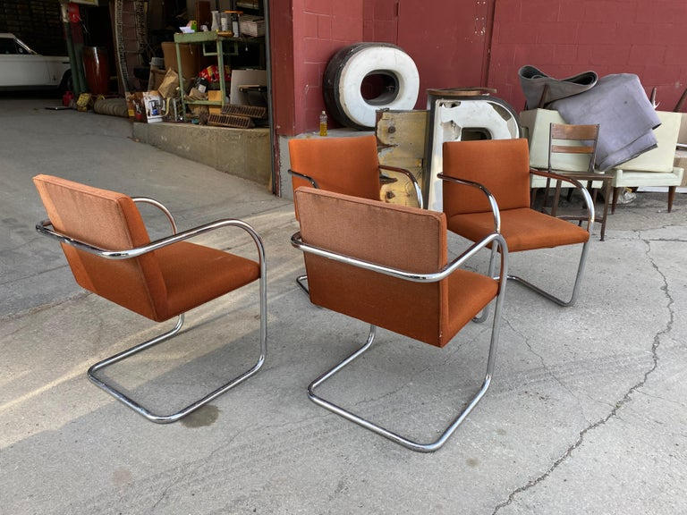 American Classic Midcentury Brno Chairs by Mies van der Rohe for Gordon International For Sale