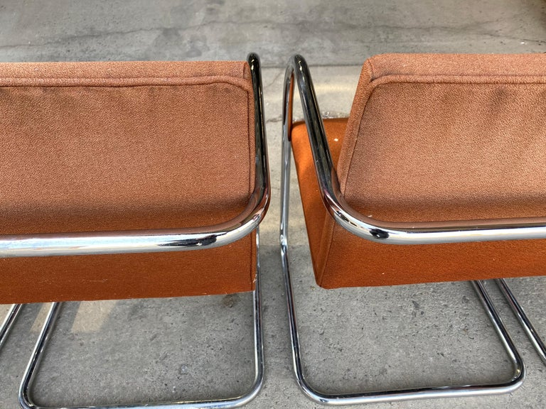 Late 20th Century Classic Midcentury Brno Chairs by Mies van der Rohe for Gordon International For Sale