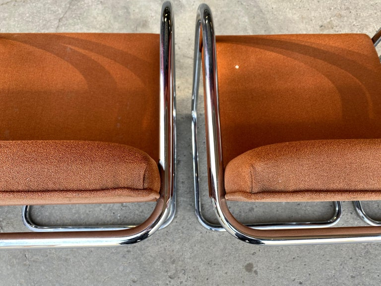 Fabric Classic Midcentury Brno Chairs by Mies van der Rohe for Gordon International For Sale