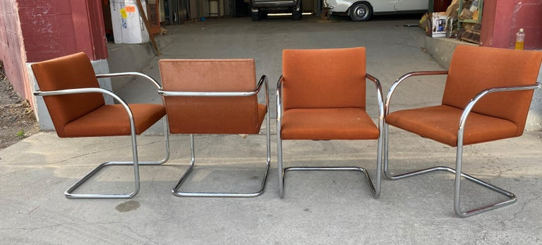 Classic Midcentury Brno Chairs by Mies van der Rohe for Gordon International For Sale 2
