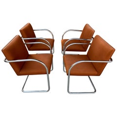 Classic Midcentury Brno Chairs by Mies van der Rohe for Gordon International