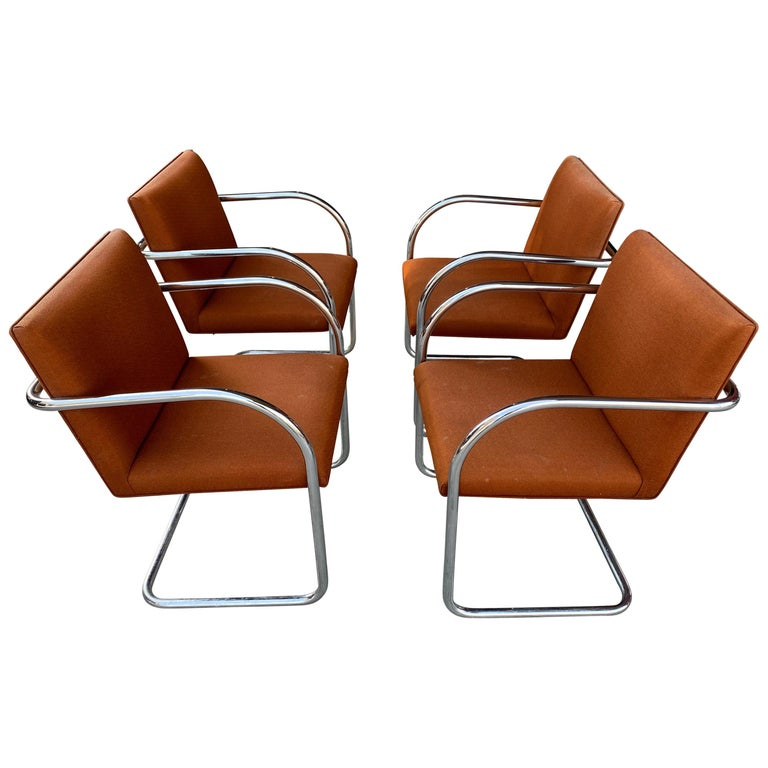 Classic Midcentury Brno Chairs by Mies van der Rohe for Gordon International For Sale