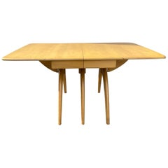 Classic Mid Century Heywood-Wakefield Butterfly Drop-Leaf Wishbone Dining Table
