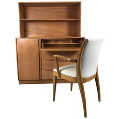 Classic Mid-Century Modern Dresser/Desk/ Bookcase & Chair by Heywood Wakefield