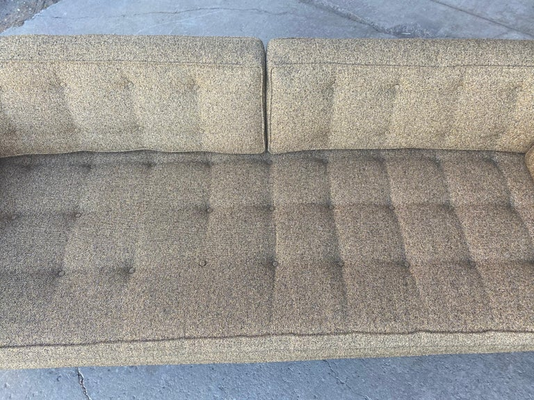 Classic Mid-Century Modern Even Arm Sofa Attributed to Harvey Probber For Sale 6