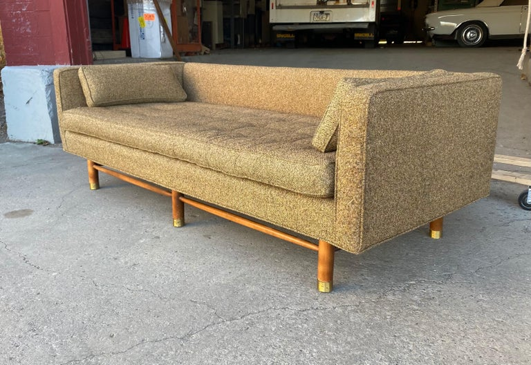 Classic Mid-Century Modern Even Arm Sofa Attributed to Harvey Probber For Sale 1