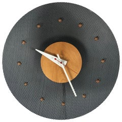 Classic Mid-Century Modern George Nelson Wire Mesh and Burch Wall Clock