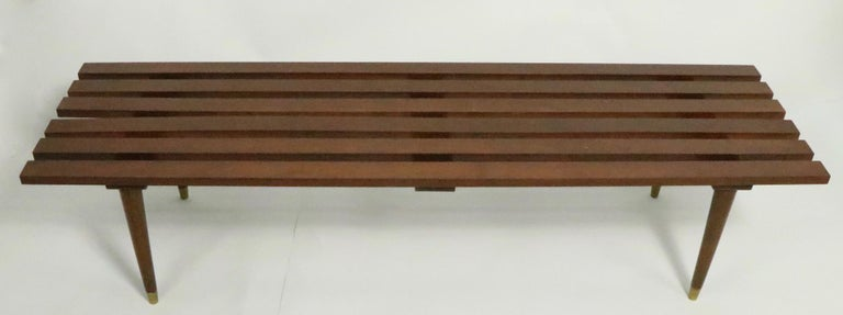 Mid-Century Modern Classic Mid Century Slat Bench Table For Sale
