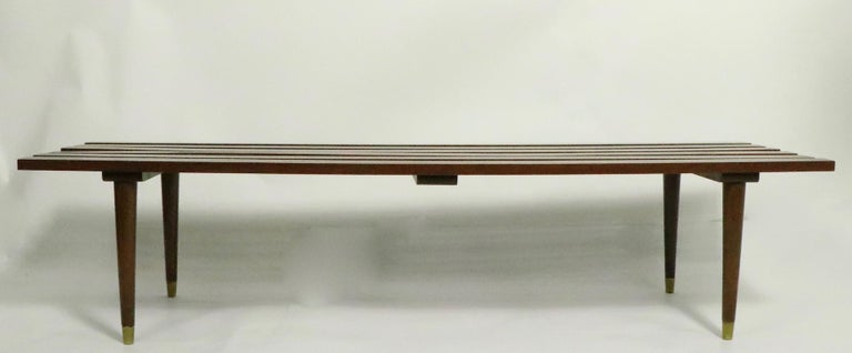 20th Century Classic Mid Century Slat Bench Table For Sale