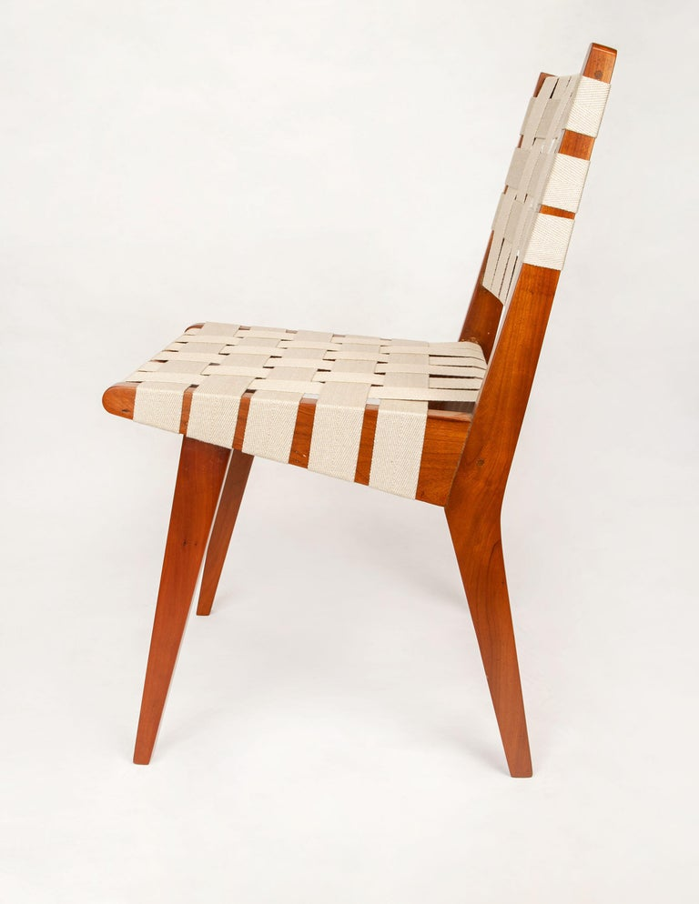 Mid-Century Modern Classic Jens Risom for Knoll Midcentury Woven Side Chairs, Pair For Sale