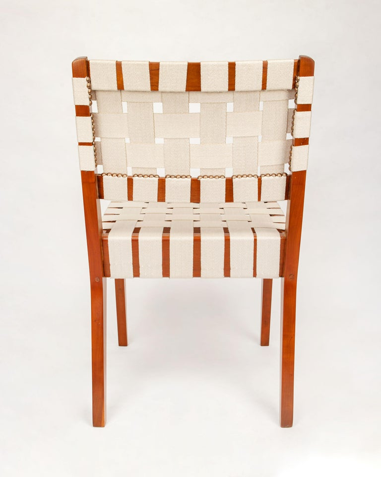 Classic Jens Risom for Knoll Midcentury Woven Side Chairs, Pair In Excellent Condition For Sale In Pasadena, CA