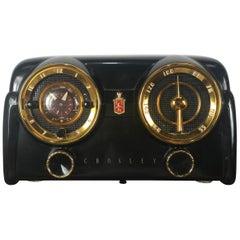 "Classic Midcentury Crosley Model 11-122 U ""Dashboard"" Black Bakelite Radio"
