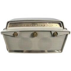Classic Midcentury Silvertone Syntronic Fiberglass Record Player, Radio